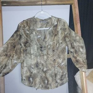 Snakeskin sheer shirt
